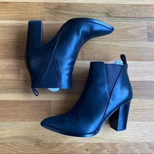& OTHER STORIES black leather ankle boot